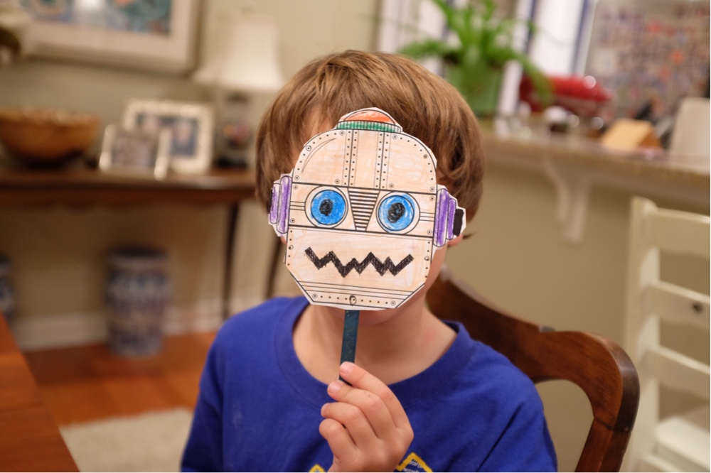 Download Minted's Free Artsy Halloween Mask Printables (You'll love them, too!)